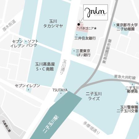 二子玉川の美容室|アトリエ ミムの地図